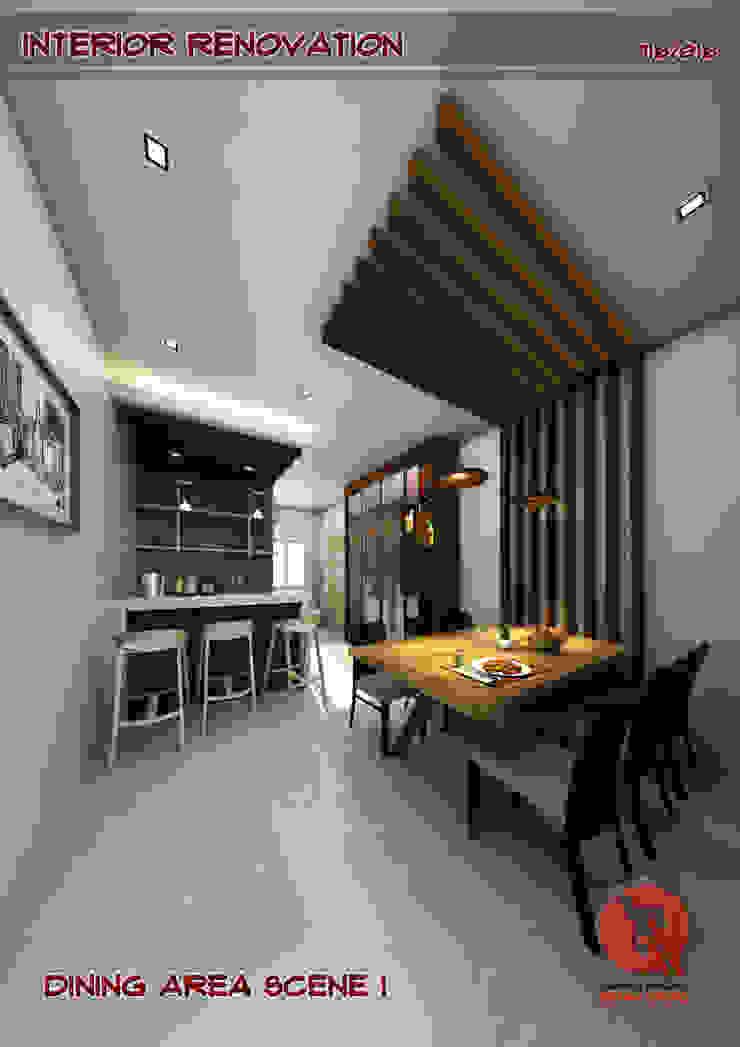 1-Bedroom Interior Design Modern dining room by Garra + Punzal Architects Modern