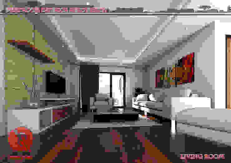 3-Bedroom Interior Design by Garra + Punzal Architects Modern