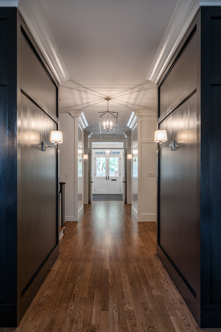 Glebe Avenue Residence Classic style corridor, hallway and stairs by Flynn Architect Classic