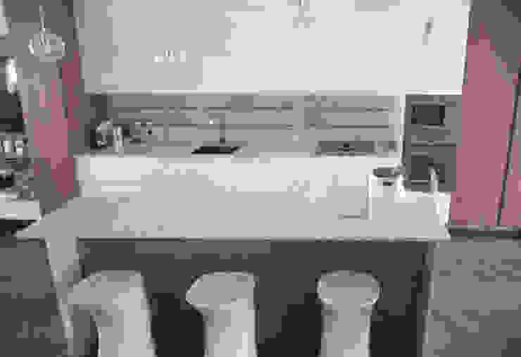 DELFINETTIDESIGN システムキッチン 木 白色