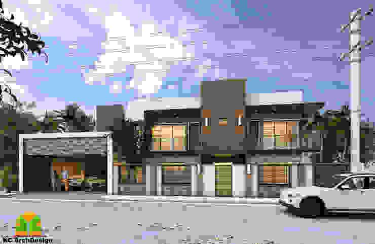 HOUSE EXTERIOR & FACADE by homify Modern