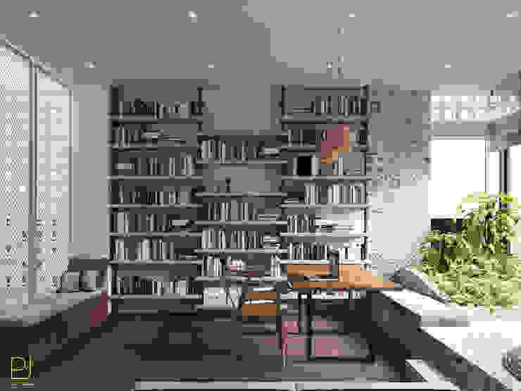 NHÀ PHỐ PLEIKU Phòng học/văn phòng phong cách hiện đại bởi P.A.U Design Hiện đại