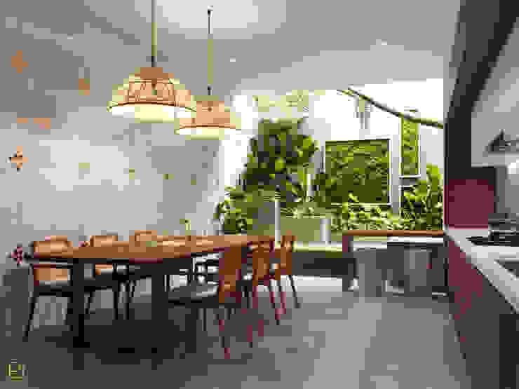 NHÀ PHỐ PLEIKU Phòng ăn phong cách hiện đại bởi P.A.U Design Hiện đại