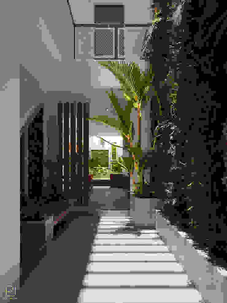 NHÀ PHỐ PLEIKU Hành lang, sảnh & cầu thang phong cách hiện đại bởi P.A.U Design Hiện đại