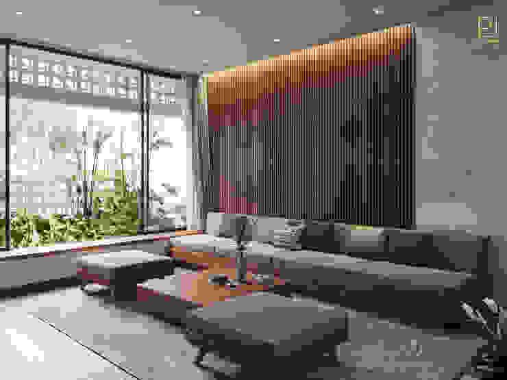 NHÀ PHỐ PLEIKU Phòng ngủ phong cách hiện đại bởi P.A.U Design Hiện đại