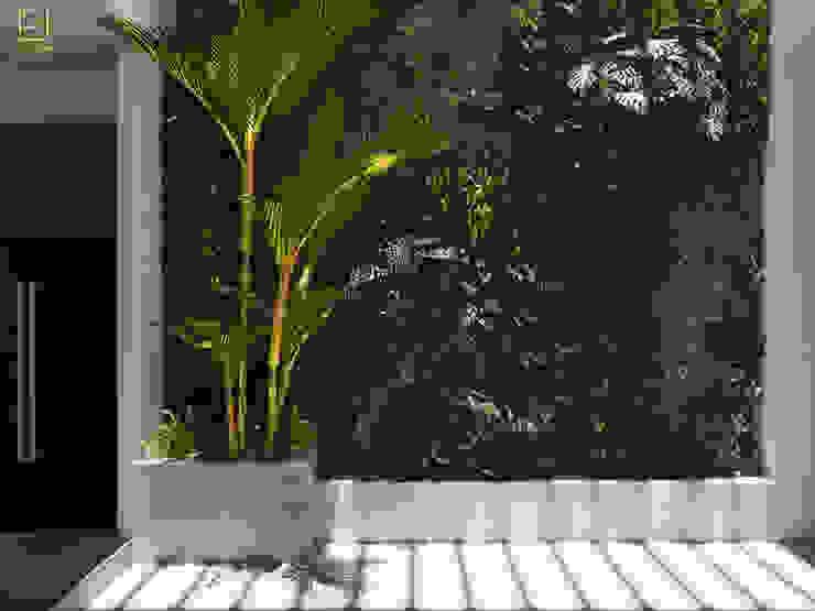 NHÀ PHỐ PLEIKU Vườn phong cách hiện đại bởi P.A.U Design Hiện đại