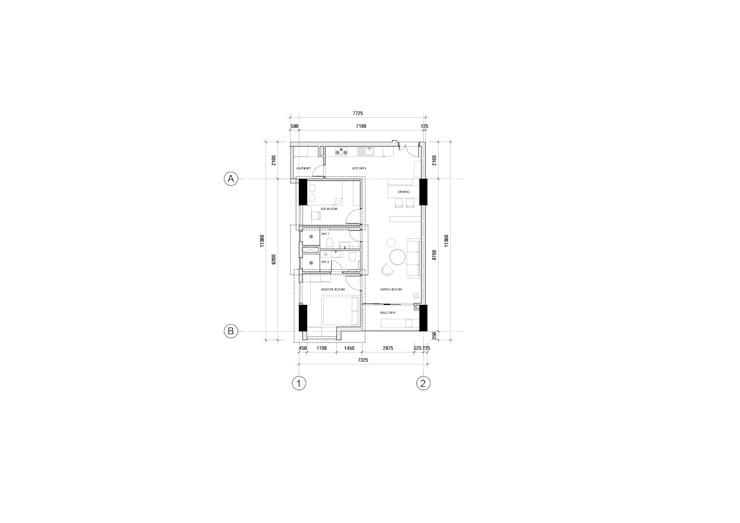 4S RIVERSIDE APARTMENT: hiện đại  by P.A.U Design , Hiện đại
