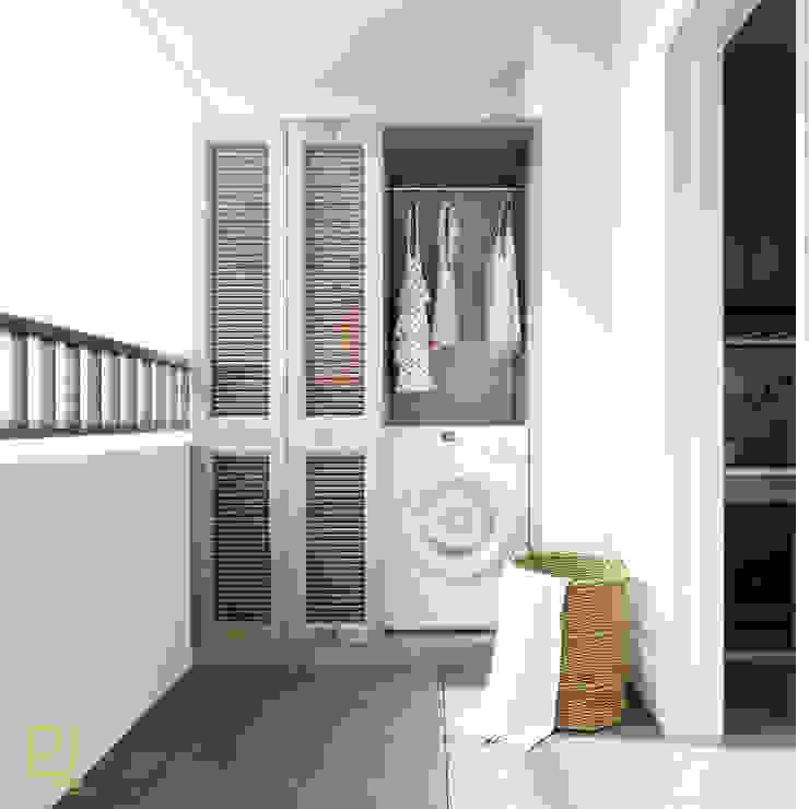 4S RIVERSIDE APARTMENT Phòng thay đồ phong cách hiện đại bởi P.A.U Design Hiện đại