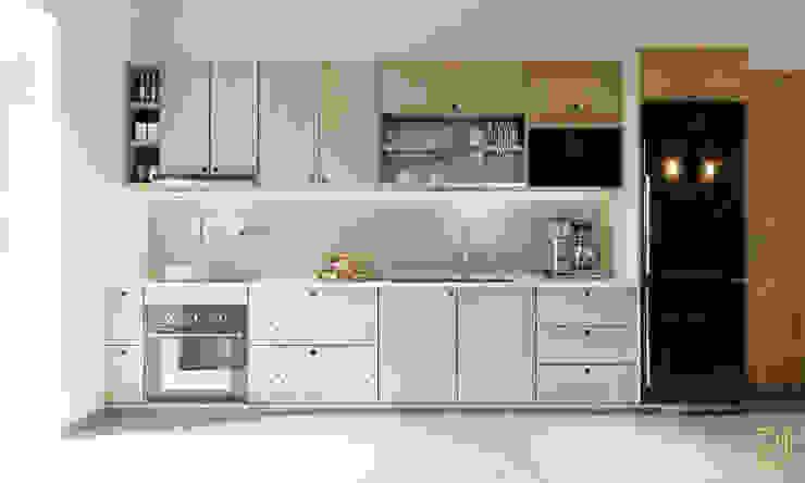4S RIVERSIDE APARTMENT Nhà bếp phong cách hiện đại bởi P.A.U Design Hiện đại