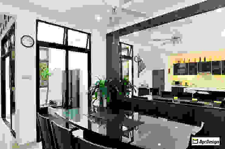 Terrace @ Saraca Place Modern dining room by AgcDesign Modern