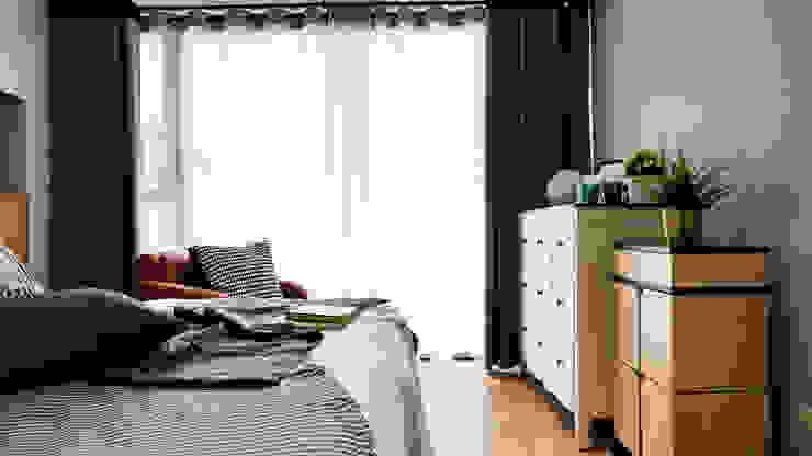Scandinavian style bedroom by 築本國際設計有限公司 Scandinavian