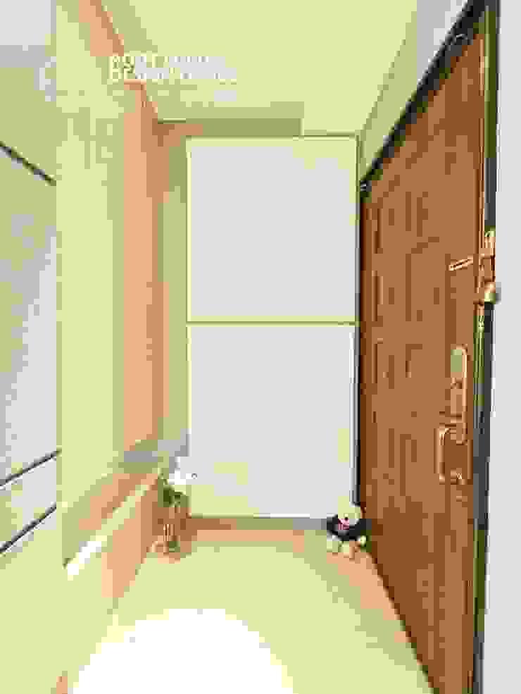 築本國際設計有限公司 Scandinavian style corridor, hallway& stairs