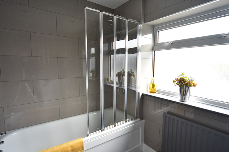 HMO Refurbishment Modern Bathroom by Kerry Holden Interiors Modern