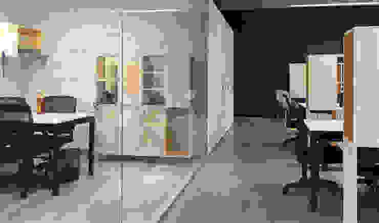 oficinas de 2712 / asociados Minimalista Madera Acabado en madera