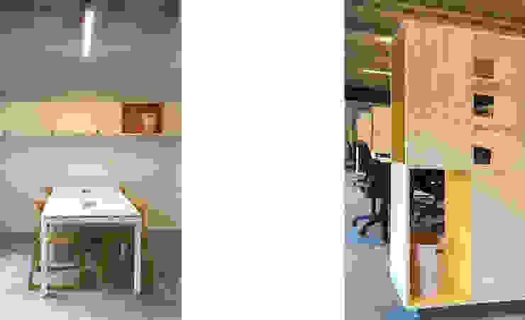 Oficinas Incowork de 2712 / asociados Minimalista Madera Acabado en madera