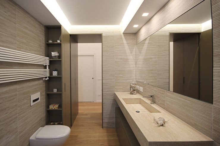 Lavabo Minimale Moderno Bagno moderno di JFD - Juri Favilli Design Moderno