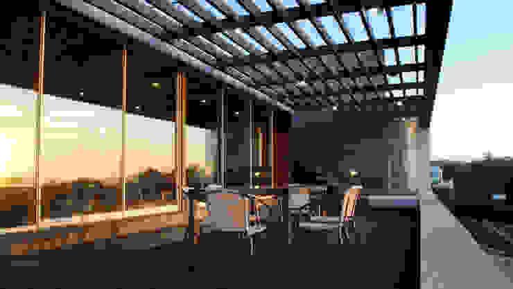 Balcones y terrazas de estilo mediterráneo de 2712 / asociados Mediterráneo Madera Acabado en madera