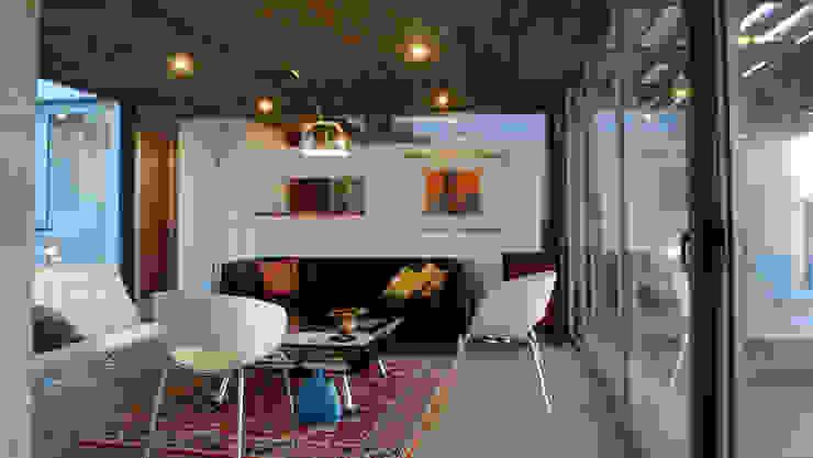 Salas de estilo mediterraneo de 2712 / asociados Mediterráneo Concreto