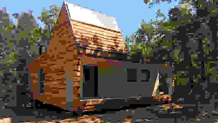 Cabaña de las Chimeneas de Luz de 2712 / asociados Rústico Madera Acabado en madera