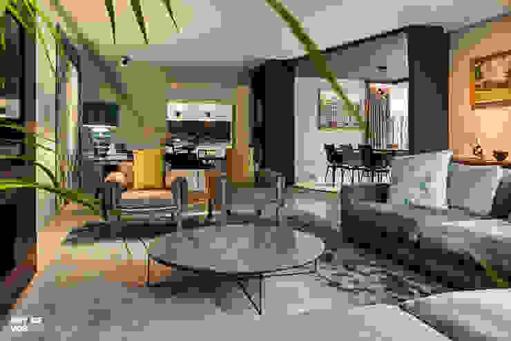 Villa Batu Alam Moderne woonkamers van Guy de Vos Modern