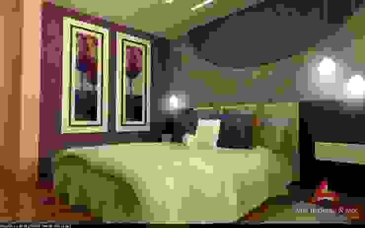 DORMITORIOS Aida tropeano& Asociados Dormitorios modernos: Ideas, imágenes y decoración Multicolor