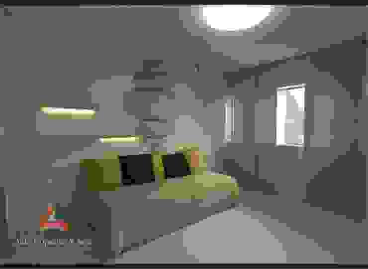 DORMITORIOS Aida tropeano& Asociados Dormitorios modernos: Ideas, imágenes y decoración Beige