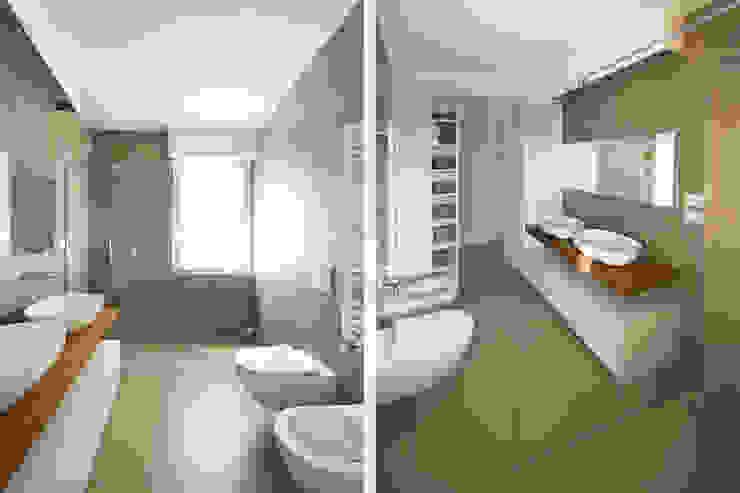 Bagno Moderno JFD - Juri Favilli Design Bagno in stile scandinavo Piastrelle Grigio