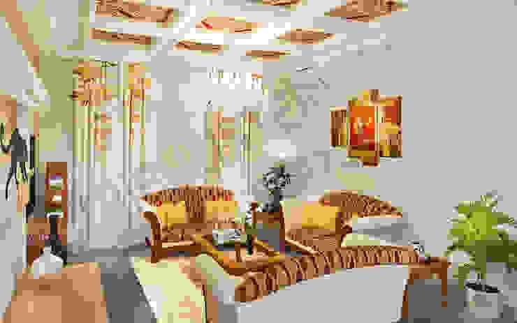 Saket Modern living room by Tribuz Interiors Pvt. Ltd. Modern