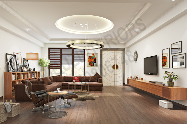 Modern Living Room by Tribuz Interiors Pvt. Ltd. Modern