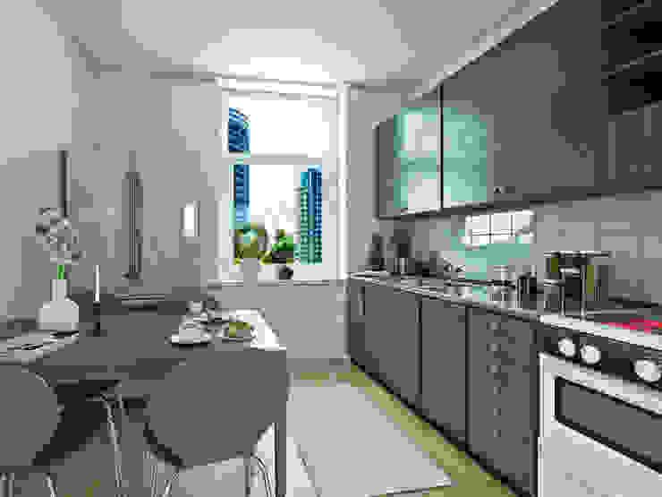 South City Modern kitchen by Tribuz Interiors Pvt. Ltd. Modern