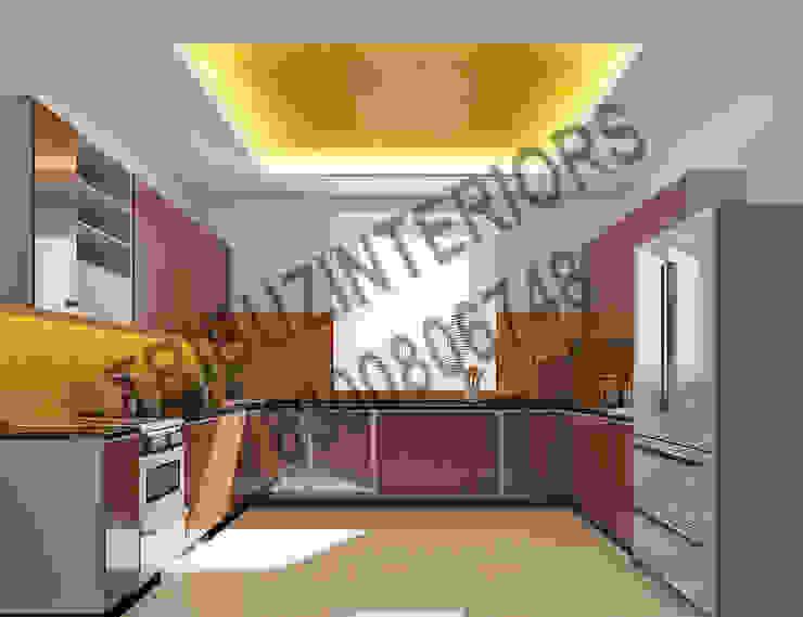 Residence Modern kitchen by Tribuz Interiors Pvt. Ltd. Modern