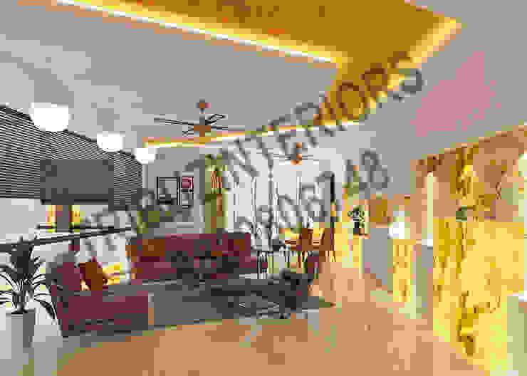 Residence Modern living room by Tribuz Interiors Pvt. Ltd. Modern