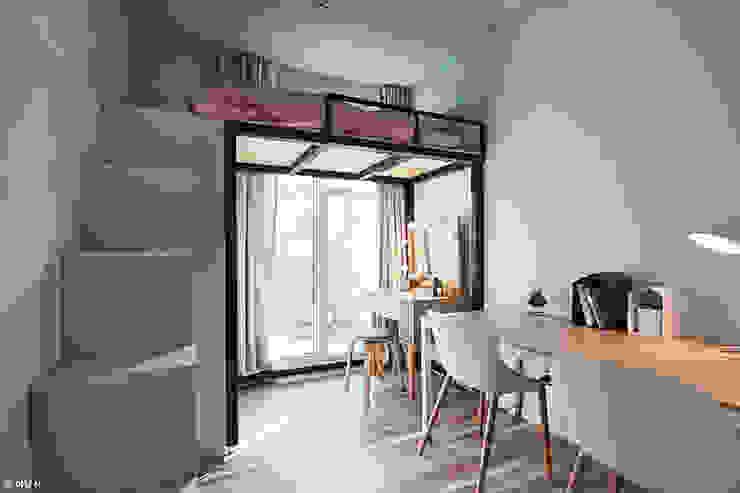 Modern Multimedya Odası 단감 건축사사무소 Modern
