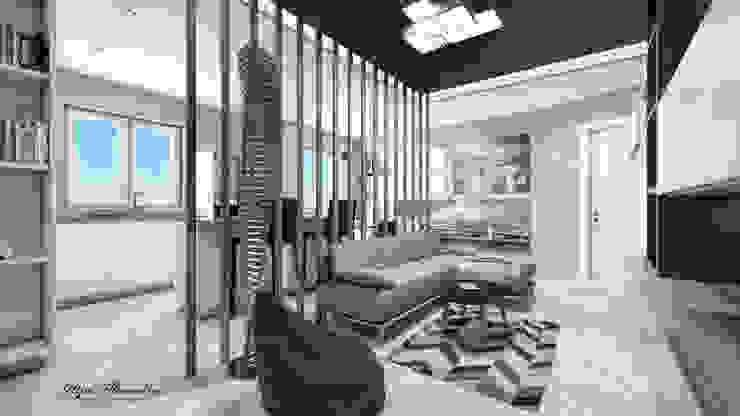 Zona living a Pavia Soggiorno moderno di Letizia Alessandrini - Yacht & Interior Design Moderno