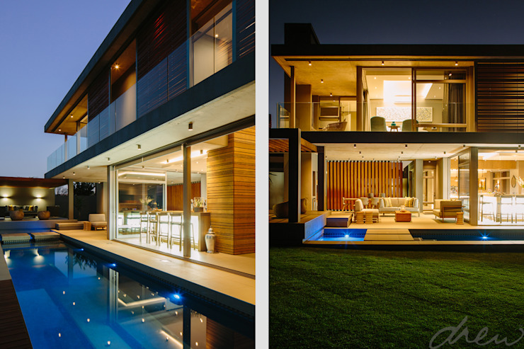 two floating boxes Modern houses by drew architects + interiors Modern