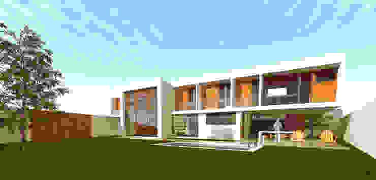 Vista general desde patio interior Casas estilo moderno: ideas, arquitectura e imágenes de artefacto arquitectura Moderno