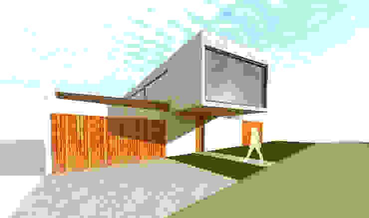 Acceso principal Casas estilo moderno: ideas, arquitectura e imágenes de artefacto arquitectura Moderno