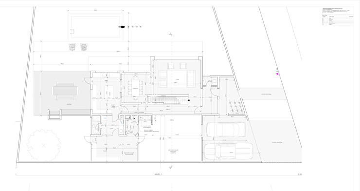 PLANTA ARQUITECTURA NIVEL 1 de artefacto arquitectura Moderno