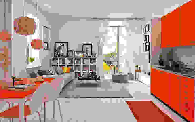 Salon moderne par Tribuz Interiors Pvt. Ltd. Moderne