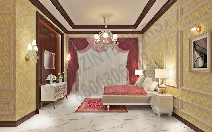 Central Park 2 Classic style bedroom by Tribuz Interiors Pvt. Ltd. Classic