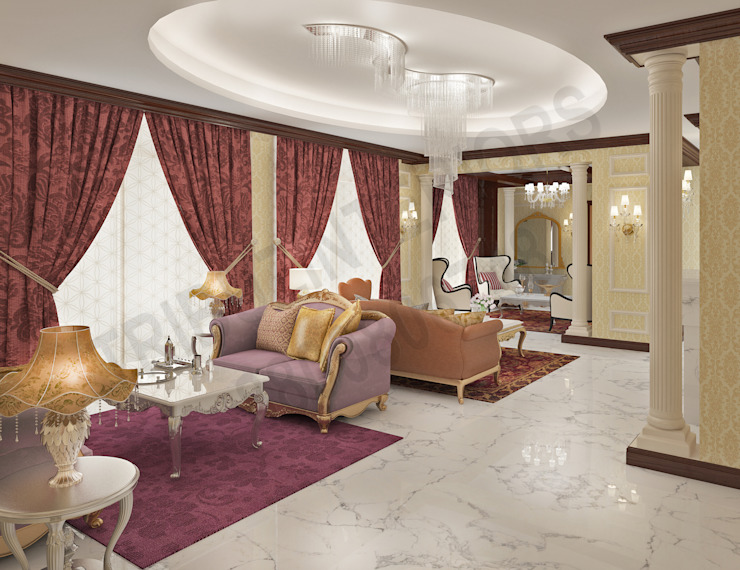 Central Park 2 Classic style living room by Tribuz Interiors Pvt. Ltd. Classic