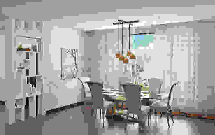 Modern dining room by Tribuz Interiors Pvt. Ltd. Modern