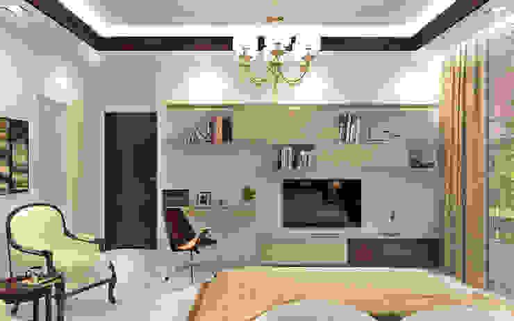 Essel Tower Modern living room by Tribuz Interiors Pvt. Ltd. Modern