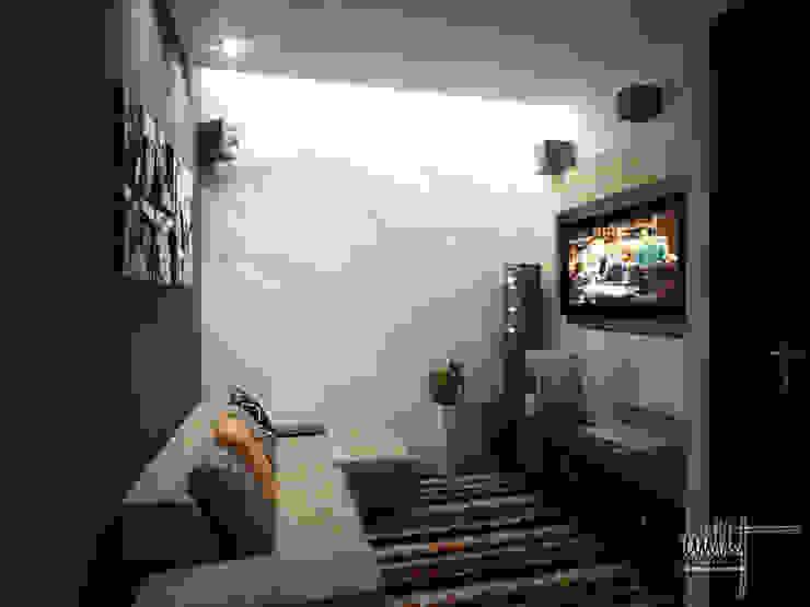 Sala de televisión Salas multimedia modernas de homify Moderno