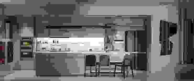 Căn hộ Masteri Thảo Điền Nhà bếp phong cách hiện đại bởi Công Ty TNHH Trang Trí Nội Thất Centimet. Hiện đại