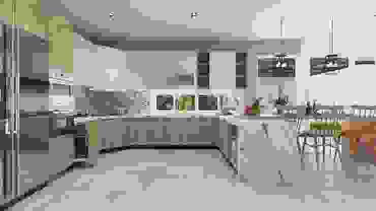 Nhà Anh Long Nhà bếp phong cách hiện đại bởi AT Design Hiện đại