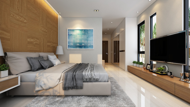 Modern style bedroom by AT Design Modern