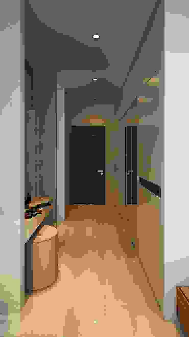 Nhà Anh Long Hành lang, sảnh & cầu thang phong cách hiện đại bởi AT Design Hiện đại