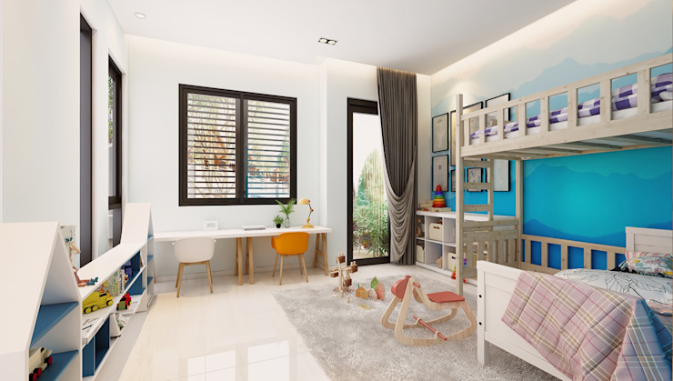 Nhà Anh Long Phòng trẻ em phong cách hiện đại bởi AT Design Hiện đại