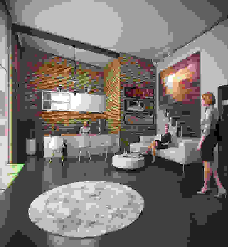 HALL DE ACCESO Estudios y despachos de estilo industrial de Arquitectura Positiva Industrial